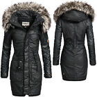 khujo Julita beschichteter Damen Winter Baumwoll Parka Coated Mantel Jacke S-XXL