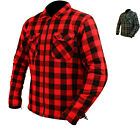 ARMR Moto Aramid Check Motorcycle Shirt Lumberjack Plaid Flannel Motorbike Bike