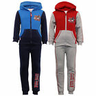 Boys Pyjama Set Marvel Kids Hooded Top Sweatshirt Bottom Captain America Ironman