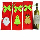 Red Xmas Christmas Decoration Santa Tree Wine Bottle Cover Bag Dinner Party Gift