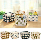 New Linen Desk Storage Box Holder Jewelry Stationery Cosmetic Organizer Case OP