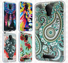 For Alcatel OneTouch Allura Premium Brushed Metal HYBRID Rubber Case Snap Cover