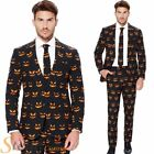 Mens Pumpkin Opposuit Halloween Fancy Dress Costume Jack O Lantern Suit