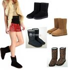 Hot Winter Warm Women Girls Ladies Mid Calf Warm Snow Boots Shoes Size 5-9 DZ88