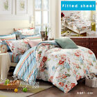 New 100% Cotton Doona Quilt Duvet Covers Set Double QUEEN King Size Bed Linen