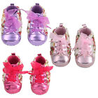 Lovely Floral Rose Pattern Cotton Baby Girl Sneaker Shoes Soft Sole Kids Walker