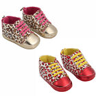 Infant Toddler Baby Boy Girl Soft Sole Crib Shoes Sneaker Leopard Print Colorful