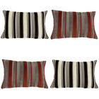 Scatter Box Carmen Chenille Striped Feather Filled Cushion, 40 x 60 Cm