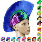 Punk Mohawk Wigs Long Hair Cap Mohican Halloween Native American Adult Costumes
