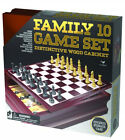 CARDINAL INDUSTRIES - Family 10 Game Center in Wood Case - 1 Set