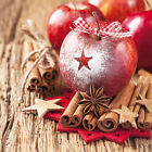 Ambiente Paper Napkins Serviettes Star On Apple Traditional Xmas Christmas Pk 20