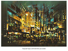 night scene cityscape abstract art Poster Print P2647
