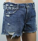 Polo Ralph Lauren Blue Crosby Denim Distressed Shorts NWT $98