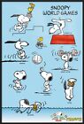 "PEANUTS - FRAMED TV SHOW POSTER / PRINT (SNOOPY WORLD GAMES) (SIZE: 24"" X 36"")"