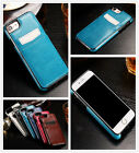 Premium Slim hybrid TPU & Leather Case with card holder for iphone 7 / 7 Plus