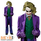 Deluxe Joker Mens Halloween Fancy Dress Grand Heritage Batman Villian Costume
