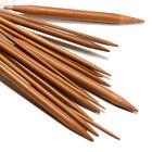 18 Carbonized Bamboo Circular Crochet Hooks Needles Pins 2.0mm-10mm
