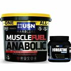 USN Muscle Fuel Anabolic 4Kg / 4000g / 8.8lbs + FREE PRO ELITE CREATINE 250G