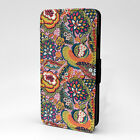 Floral Flowers Print Design Pattern Flip Case Cover For Sony Xperia - P838