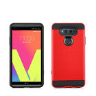 For LG V20 Brushed Metal HYBRID Rubber Case Phone Cover Accessory
