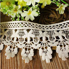 1/3/5 Yards Embroidered Flower Tassel Edge Lace Trim Sewing Applique Craft DIY