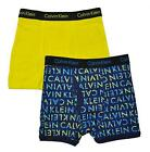 Calvin Klein Boys Yellow & Blue 2 Pack Boxer Briefs Size 4/5 6/7 12/14 16/18