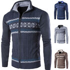 Design Coats Slim Stylish Hoodies Knitted Cardigan Mens Casual Sweaters Pullover
