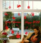 Gifts Christmas Ball New Year Vinyl Sticker for 1M Shop Window Wall Decor Decal