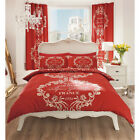 Reversible Modern & Stylish Duvet Set - Red Double