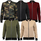 Ladies MA1 Jacket Womens Coat Camouflage Military Bomber Lightweight Winter New