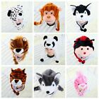 Plush Unisex Cartoon Animal Kids Winter Hood Hat Fluffy Warm Cap Beanie Cute New