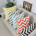 Linen Wavy Pattern Cushion Cover Pillow Case Sofa Office Bed Home Decor 40x40cm