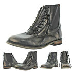 Naughty Monkey London Calling Women's Combat Boots Booties Distressed