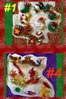 Внешний вид - Christmas Mini Ornament Plastic Bear Holiday Crafts Home Decor Tree Wreath LOT