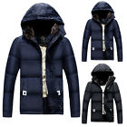 New Mens Winter Warm Thick Hooded Parka Fleece Padded Jacket Coat Outerwear Tops