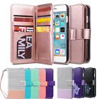 Flip PU Leather Wallet Card Slots Stand Case Cover for Apple iPhone 6 6S Plus