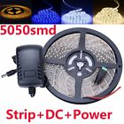 5050 SMD 5M 150leds Flexible LED Strip Ribbon Tape Xmas Lights +DC +12V Power
