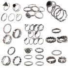 Fashion Women Retro Silver Plated Jewelry Lady Ring Sets Christmas Xmas Gifts