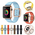 1:1 Real Leather Magnetic Wrist Band Modern Buckle iWatch Strap for Apple Watch