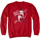 Betty Boop Cartoon Comic Icon Lover Girl Valentine Betty Adult Crew Sweatshirt $36.95 USD