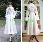 Lolita Princess Winter Rabbit Fur Coat Outwear Dress Skirt Cosplay Cloak Jakcet