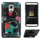 BeyondCell [Shell Combo] For Samsung Galaxy Note 4 Hybrid Case Belt Clip Holster