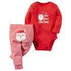 Christmas 0-18M Baby Boys Girls Romper Jumpsuit Bodysuit+ Pants Clothes Outfits