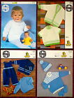 Sirdar Baby's Knitting Patterns Sweaters Cardigans - Choose from Drop-down Menu