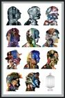 DOCTOR WHO - FRAMED TV SHOW POSTER (THE 11 DOCTORS / SILHOUETTES) (DR. WHO)