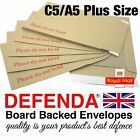 C5 A5 Plus BOARD BACK ENVELOPES 241mm 178mm HARD CARD BACKED DEFENDA BOARDBACKED