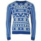 Portsmouth FC Pompey Christmas Jumper Juniors Blue Football Soccer Xmas Sweater