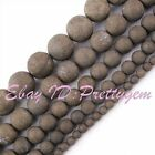 """Natural Frost Round Pyrite Gemstone Spacer Loose Beads 15"""" 4mm 6mm 8mm 10mm 12mm"""