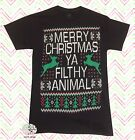 ya filthy animal home alone - New Home Alone Merry Christmas Ya Filthy Animal Ugly Sweater Mens T-Shirt