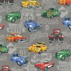 HOT RODS VINTAGE CARS QUILT SEWING CRAFT FABRIC Free Oz Post